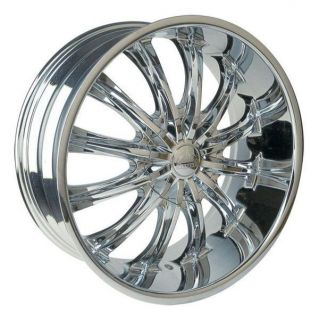 28 Wheels Rims Package Free Tires B15 Borghini Bentchi Triple Chrome