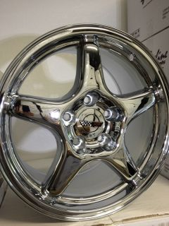 Chrome Chevrolet Corvette C4 ZR1 Factory OE Replica Wheels Rims 17x9 5