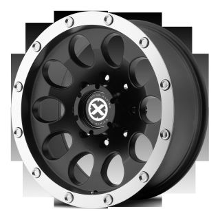 Series Slot AX186 5 6 Lug Black Wheels Rims 4 New FREE Caps Lugs Stems