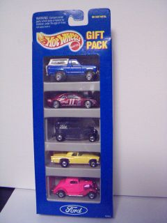 Hot Wheels Ford 5 Car Gift Pack Bronco 3 Window 34 32 Delivery 57 T