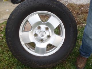 Four Toyota Tundra Truck Tires Rims
