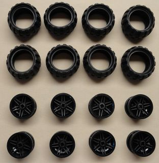 X16 New Lego Pcs Technic NXT Wheels Tires Rims 43 2mm D x 26mm Balloon