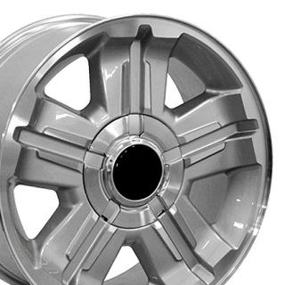 18 Silver Z71 Wheels Set of 4 Rims Fits Chevrolet