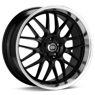 18 Enkei Lusso Black Rims Wheels 18x8 45 5x112 Golf GTI Jetta Passat