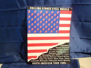 1989 Steel Wheels Tour Program Rolling Stones
