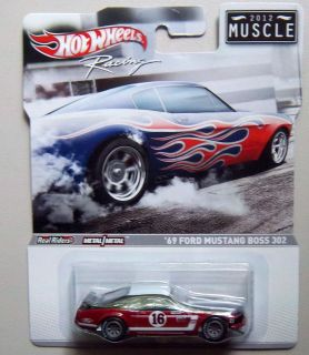 MUSTANG 1969 BOSS 302 MUSCLE 2012 HOT WHEELS RACING Diecast Model 1 64