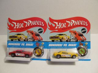 1970 Hot Wheels Red Mongoose Yellow Snake Blister Paks