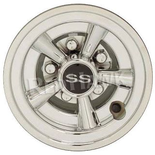 Golf Cart Hub Cap Wheel Cover 8 Wheels Cragar SS Chrome