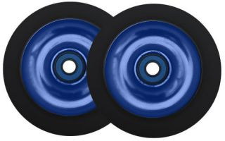 Metal Core Scooter Wheels 100mm Blue Black Heavy Duty Razor