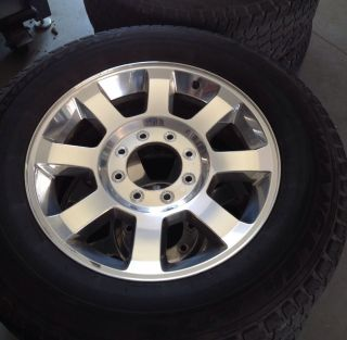 Factory Ford F250 20 Wheels Polished Aluminum 08 09 10 11 F350