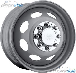 75 Vision Hauler Dually Steel Front 8x210 Silver Wheels Rims Inch 19 5