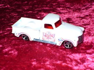 Hot Wheels 52 Chevy Pickup Truck White 50s 1950s 1 64 s Scale Car