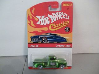 Hot Wheels Classics Series 3 6 30 Green 52 Chevy Truck