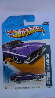 Hot Wheels 2012 Muscle Mania 73 Ford Falcon XB Custom Wheels Rubber