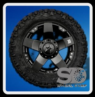 XD ROCKSTAR BLACK RIMS 295 55 20 NITTO TRAIL GRAPPLER MT WHEELS TIRES