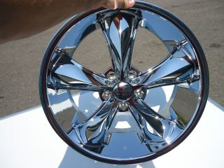 20 FOOSE F105 Legend Chrome Wheels Rims 5 Lug 20x8 5 20x10 Staggered