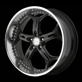 HE834 5x115 18x8 Impala Charger Black Wheels Rims Free Lugs