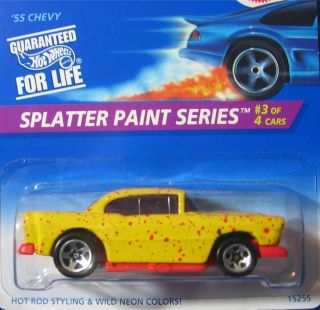 Hot Wheels  55 Chevy Splatter Paint 5 Spoke 410