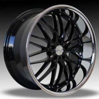 MRR GT1 22x10 5 5x120 24 Black Chrome Rims Wheels