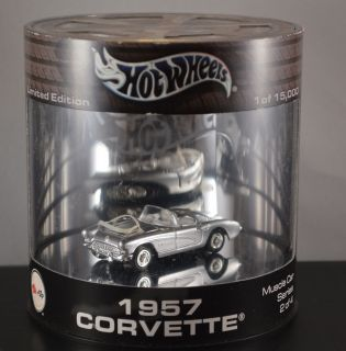 HOT WHEELS 1957 CORVETTE MUSCLE CAR SERIES 1 OF 15000 LIMITED EDITION