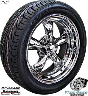 AMERICAN RACING TORQ THRUST II WHEELS RIMS & TIRES CHEVY BEL AIR 1956