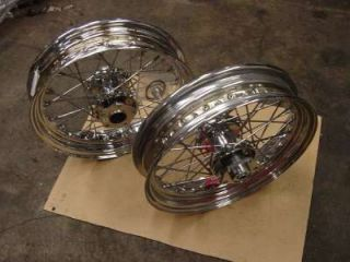 Chrome Spoke Wheels 4 Harley FLST Fatboy