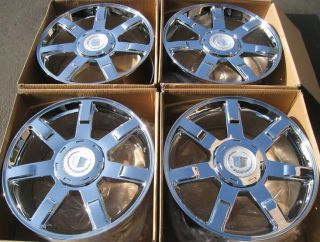 24 Set of 4 Wheels Rims for Cadillac Escalade All Chrome Finish 24 x