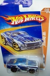 Hot Wheels 69 Chevelle Track Stars Stripe Blue 062