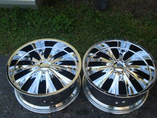 903C 5 LUG 22x9 5 CRUISER ALLOY CHROME WHEELS RIMS 5X4 5 5X120 65 15MM