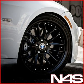 E66 745 750 760 7 Series MRR GT 7 Black Staggered Rims Wheels