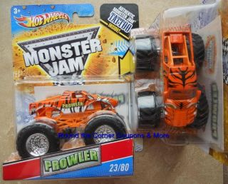 2011 Hot Wheels Monster Jam 23 Prowler New Tattoo Variant 1 64 Scale