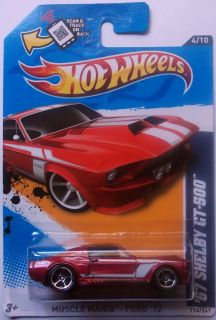 2012 Hot Wheels 67 Shelby GT 500 Col 114 Kmart Exclusive