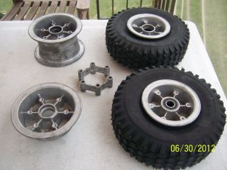 Vintage Manco Go Kart 2 Piece Wheels Rims Mini Bike Rupp