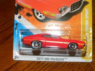 Hot Wheels 2011 HW Premiere 2 50 72 Ford Gran Torino Sport Hotwheels