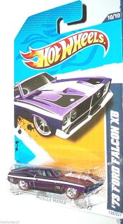 HOT WHEELS 12 73 FORD FALCON XB SUPER PURPLE LIGHTS VARIATION TREASURE