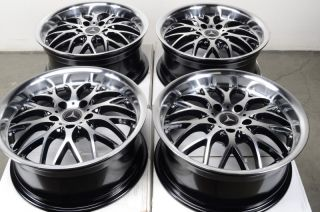 Wheels Mercedes Audi Maybach CLK350 S500 E320 E350 Polished 5 Lug Rims