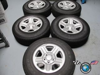 Five 07 12 Jeep Wrangler Factory 16 Steel Wheels Tires 9072