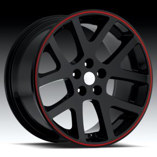 20 inch Black Viper Replica Wheels Fit 300 Charger Magnum Challenger