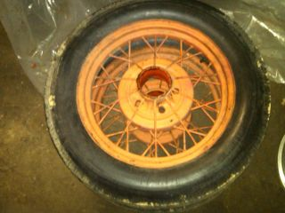 1931 Ford Model A Rims and Tires Set of 5ea