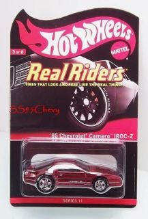 2012 Hot Wheels RLC Red Line Club 85 Chevrolet Camaro Iroc Z Z 28 Real