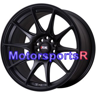 Flat Black Staggered Rims Wheels Concave Stance 90 96 Nissan 300zx TT