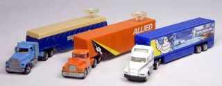 JG Matchbox Hot Wheels Lot of 3 Ford Mack Tractor Trailer 1 87