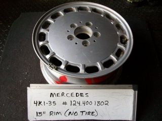 Mercedes W124 260E 300D 300E 400 89 94 Wheel Rim Alloy 15