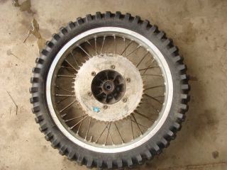 82 81 83 84 Suzuki RM125 250 18 Rear Rim Tire Wheel Hub Spokes Brake