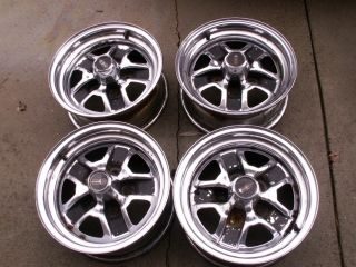 CHROME OLDSMOBILLE OLDS RALLY WHEELS 14 X 6 CUTLASS 442 HURST OLDS