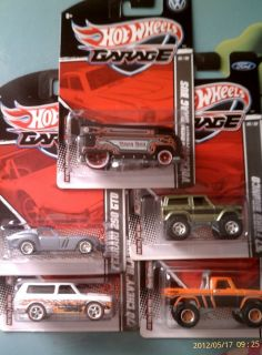 car lot Hot Wheels 2012 2011 GARAGE WM Exclusives Power Wagon DRAG