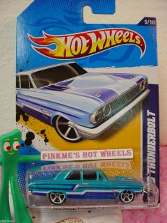 2013 C 2012 i Hot Wheels FORD THUNDERBOLT 115 met BLUE Muscle Mania