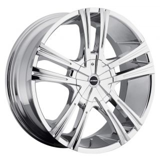 22 inch Strada Primo Chrome Wheels Rim 5x115 Charger 300 300C SRT8