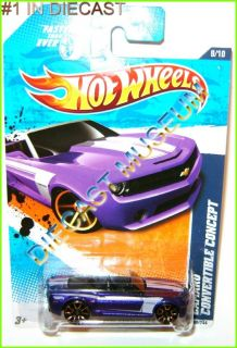 12 Chevy Camaro Convertible Purple Hot Wheels HW Diecast 2011