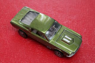 1968 Hot Wheel Olive Green Ford Mustang Redline